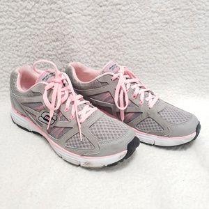 Sketchers | Gray & Pink Sneakers